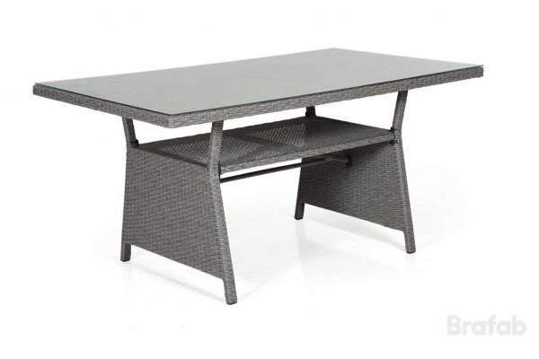 Soho soffbord 143x86 h69 grå med glas