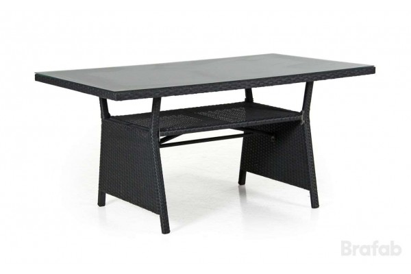 Soho soffbord 143x86 h69 svart med glas