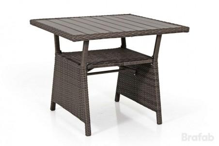 Soho soffbord 2-line 86x86 h69 brun/brun nonwood