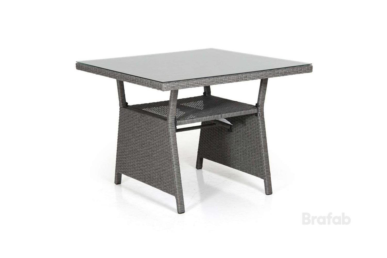 Soho soffbord 86x86 h69 grå med glas