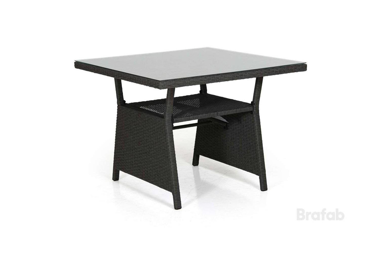 Soho soffbord 86x86 h69 svart med glas     Brafab