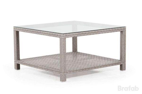 Weston soffbord 100x100 h55 med glas