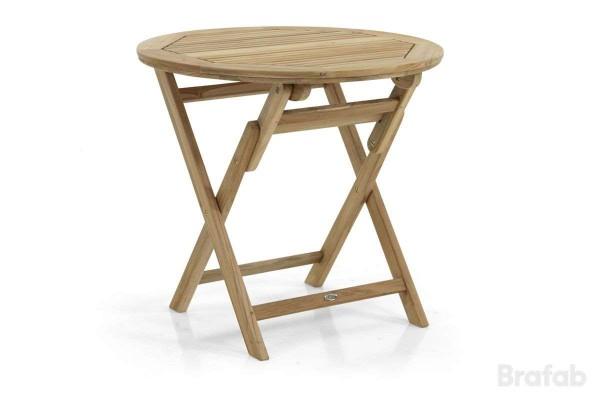 Turin matbord Ø80 teak natur       Brafab