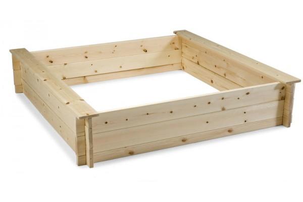 Sandlåda 120x120x25 cm