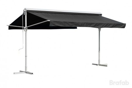 Markis parasoll 4x3 m silver/svart