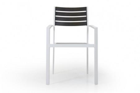 Wayburn karmstol vit/grå