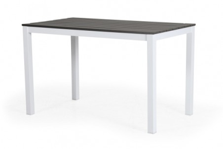 Leone 120x70 H74 matt vit/grå