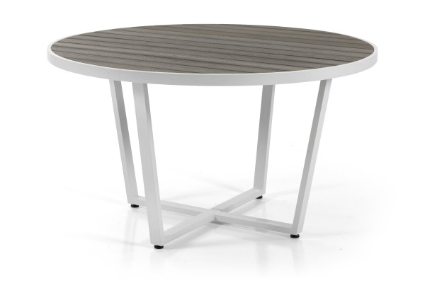 Leone Ø130 H74 matt vit/grå