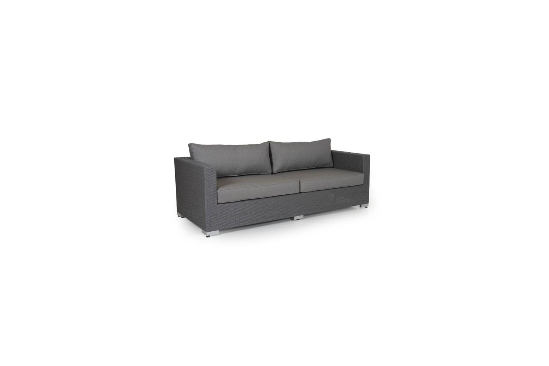 Ninja soffa 3-sits grå med dyna