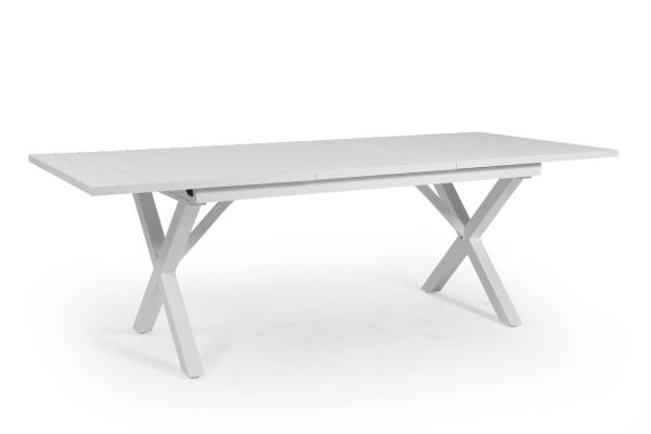 Hillmond matbord 160/220x100 H75 cm vit Brafab