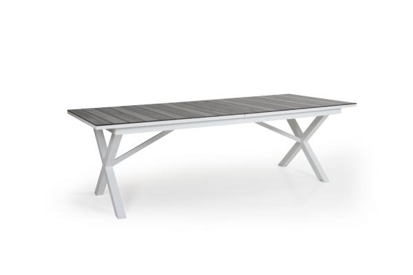 Hillmond matbord 237/297x100 H73 cm vit/grå Brafab