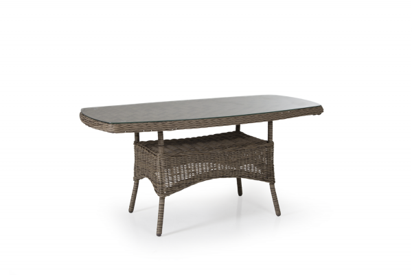 Rosita soffbord 150x80 H70 natur med glas Brafab