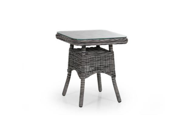 Rosita sidobord 50x50 H56 cm grå med glas Brafab