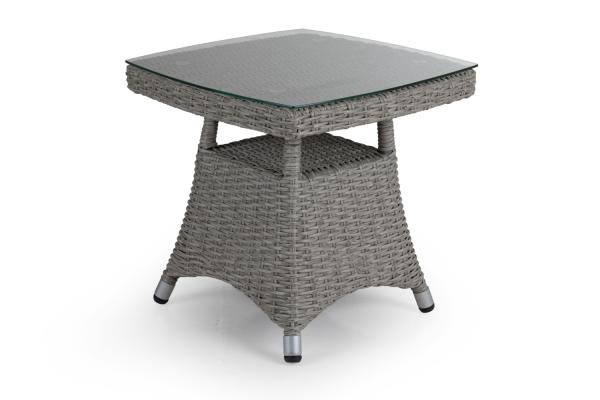 Ashfield sidobord 50x50 H48 cm grå med glas Brafab