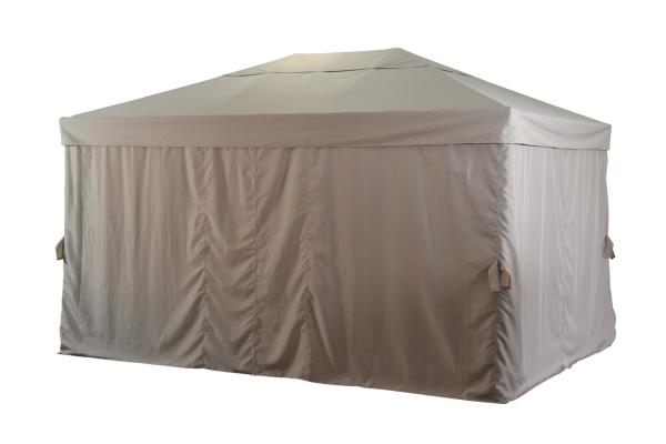 Biella paviljong 3x4m antracit/beige Brafab
