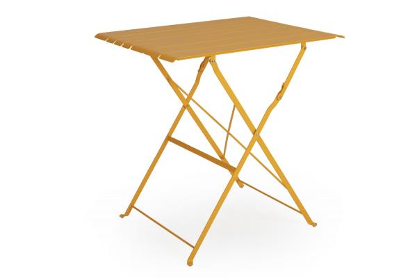 Bradano cafébord fällbart H71 gul Brafab