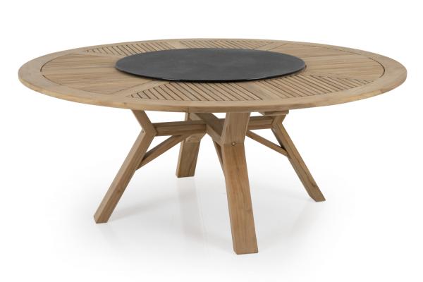Circus matbord Ø180 H73 cm natur med snurrskiva Brafab