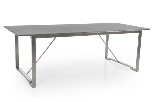 Gotland matbord 220x95 grå Brafab