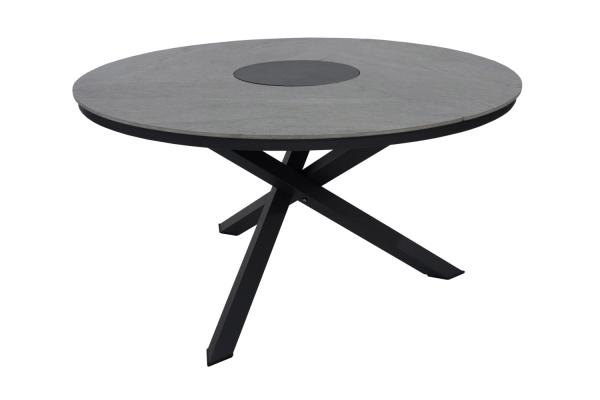 Kenora matbord Ø130 H73 cm antracit Brafab