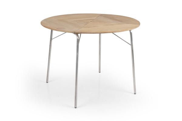 Kozani klaffbord Ø100 H73 cm natur Brafab