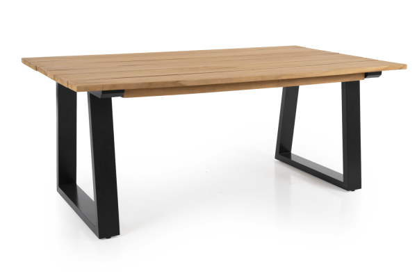 Brafab Laurion matbord 180x100 natur/svart