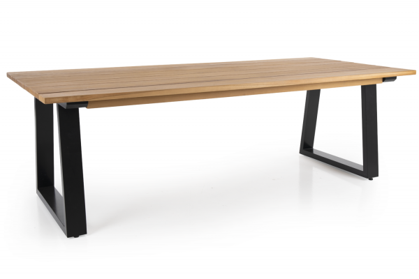 Laurion matbord 230x100 H73 natur/svart Brafab