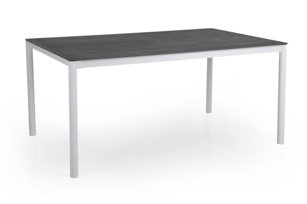 Renoso matbord 160x100 H73 cm vit/grå Brafab