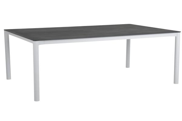 Renoso matbord 220x100 H73 cm vit/grå Brafab