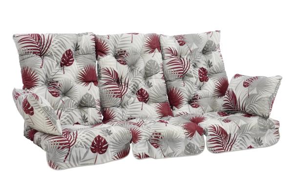 Softa hammockdynset grå/röd mönster Brafab