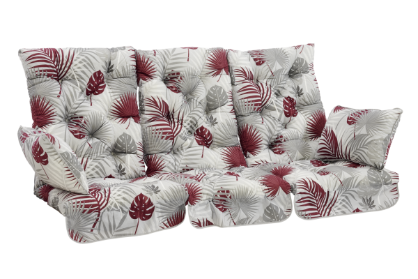 Softa hammockdynset grå/röd mönstrat Brafab