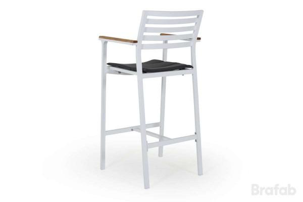 Olivet barstol vit med grå dyna Brafab