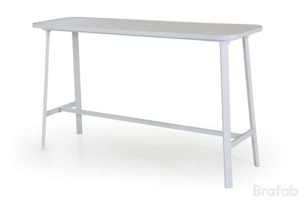 Olivet barbord 176x57 H106 cm vit Brafab