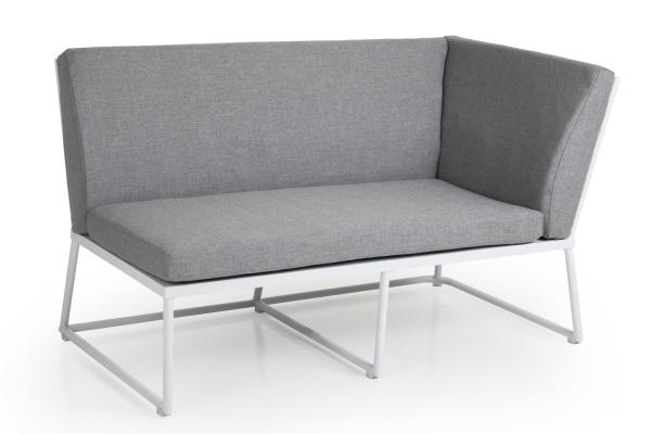 Vence 2-sits soffa avslut vänster vit m grå dyna Brafab