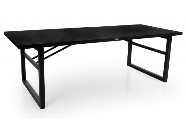Vevi matbord 230x95 svart alu Brafab