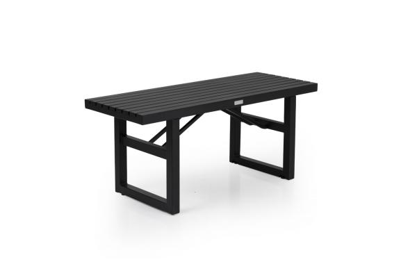 Vevi bänk 105x41 H45 cm svart alu Brafab