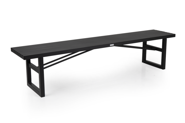 Vevi bänk 200x41 H45 cm svart alu Brafab