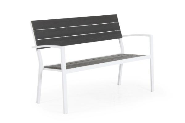Leone soffa 2-sits  matt vit/grå Brafab