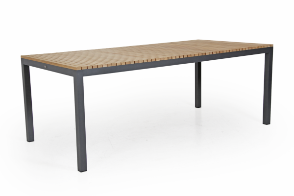 Zalongo matbord 200x100 H74 cm natur/grå Brafab