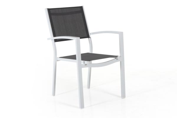 Leone stapelstol matt vit/grå Brafab
