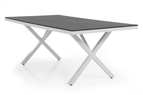 Leone matbord 150x90 H74 cm vit/grå Brafab