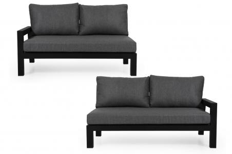 Stettler soffa  2-sits HV matt svart med dyna Brafab