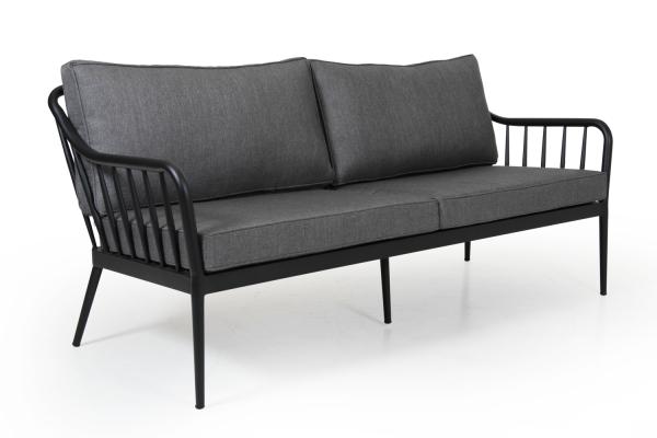 Coleville soffa 3-sits svart/grå Brafab