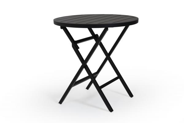 Wilkie cafébord Ø72 svart Brafab