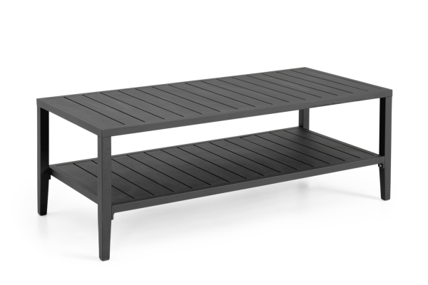 Chelles soffbord 142x65 H50 svart Brafab