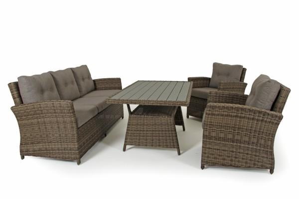 Soho soffa rustik 3-sits med dyna Brafab