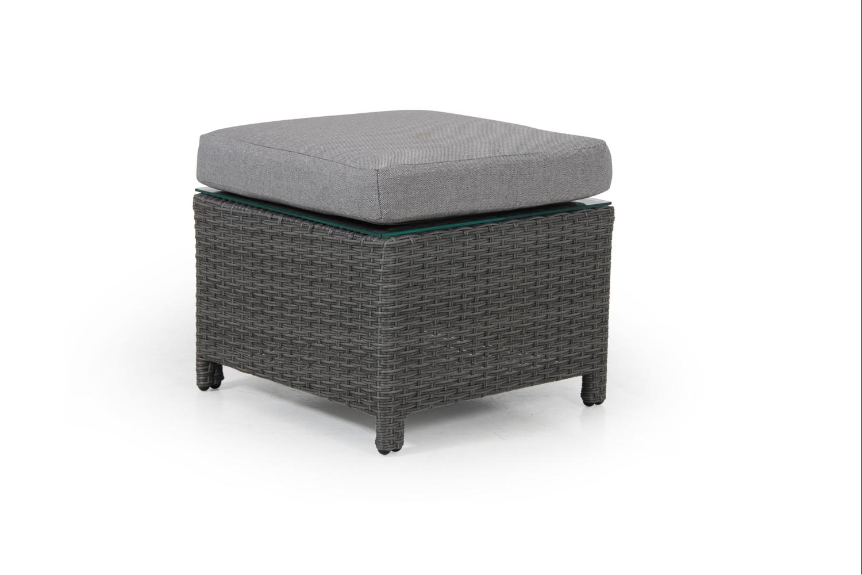 Soho 2-line pall/bord grå med grå dyna/glas Brafab