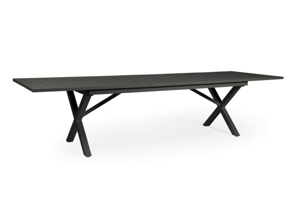 Hillmond matbord 240/310x100 H75 cm svart Brafab