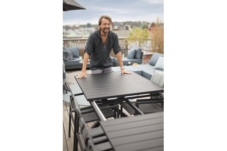 Hillmond matbord 160/220x100 H75 cm svart Brafab